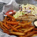 Walleye Fish Tacos with a side of Parsnips and Carrots