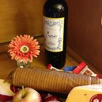 We opted for the cheese and wine to be in our room on arrival, it was great!