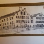 Sketch of the inn hanging on the second floor