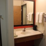 Brightly lit vanity area in all our executive king rooms