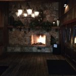 Fireplace at the entrance - great photo op