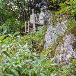 Garden statues enjoying the view.