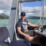 Cruising back to Cairns past Fitzroy Island