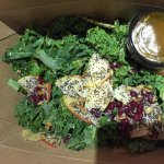 Kale Salad, very tasty with superb dressing.  The Salmon was perfectly cooked, simple and tasty.