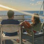 honeymooning Italians enjoying the sunset