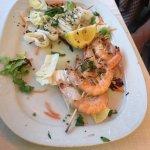Shrimp skewers.