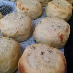 Potato, onion & cheese kinish at Yohan Schimmels
