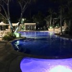 The amazing pool at night