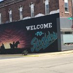 """""""Welcome to Stockton"""" mural across street from Stella's"""
