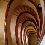 Curiosa escalera de caracol
