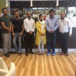 Youngest noble peace prize winner miss malala yousafzai at itihaas Indian eatery, Ambleside ✌️️