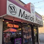 Mario's pizza is one block from the entrance to the Niagara Falls State Park