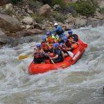 Photo taken by professional photographer along rafting route