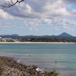 Noosa main beach as seen from Noosa National Park coastal walk.