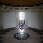 Veterans memorial inside the summit tower.