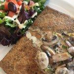 Ham and mushroom crepe...SO good!