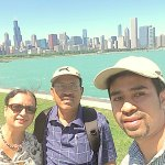 One of the selfies taken near Adler Planetarium during the tour