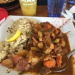 Lamb Tagine with Couscous. More potatoes than lamb:(