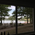 View from cabin 13 of the beach.