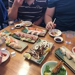 Great nigiri and grilled squid!!