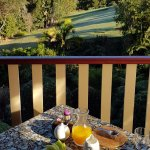 Breakfast ourlook on the veranda
