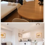 website vs reality 3 (darker, super smaller and non open plan living space)