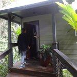 Entrée du bungalow