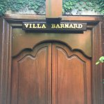 Our name at the entrance to our villa!