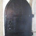 Iron door 1621 - note King James crest round keyhole
