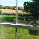 Redlands farm bnb gaydon bedroom and view.