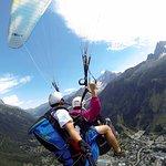 survolant la vallée de Chamonix
