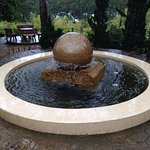 Magnificent floating stone sphere .