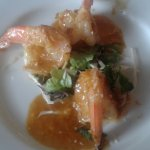 My appetizer, Thai shrimp with spicy coconut curry. Expect it to be spicy.
