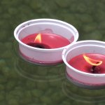 Devotees light this lamp and float it in the holy Manas Sarovar pond to wash their sins away