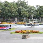 Flower gardens.