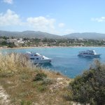 Красивый вид на соседнюю бухту и пляж