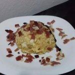 Patatas al rebujon con jamón