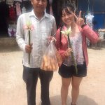 Kind-hearted Mr Thorn bought a handful of food to be given away to the poor and young children.