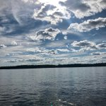 A view from the water on Lake Muskoka