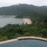 Infinity pool overlooking the beautiful beach below
