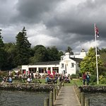 A view of the Wateredge inn , from the waters edge