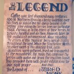 "Poster with 'legend"" of coffee"