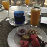 From the self service buffet, juice included - mimosa wasn't (but very affordable!).
