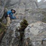 Scrambling...er rock climbing :)