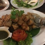 Deep fried garlic fish