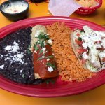 Enchilada and fish taco lunch combo