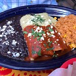 Two enchiladas lunch combo