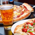 Come have an ice cold draft & a slice!