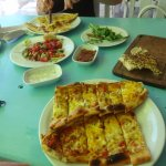 Pide and salad lunch