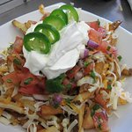 Mexi Fries. Made with our home made salsa.